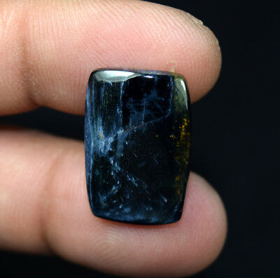 12.30 Cts. 100% Natural Pietersite Gemstone 22*15*4 mm Cushion Cabochon