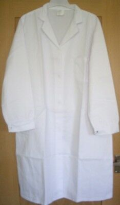 WC24 Ladies' Women's White Food Trade Coat Hygiene Healthcare Medical Lab Sze 22
