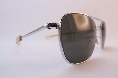 Vintage Randolph Engineering steel sunglasses USA paddle arms aviators men's M