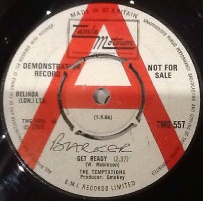 THE TEMPTATIONS - Get Ready. UK Tamla Demo 45' 1966 Tamla Motown Demo. Tmg 557