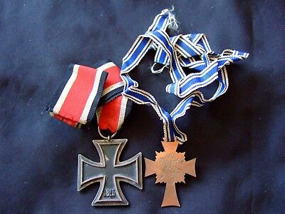 Ww2 German War Iron Cross Of Honour German Mother War Medals 16.12.1938