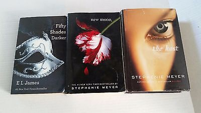 Lot of 3 books. The Host, New Moon, Fifty Shades Darker