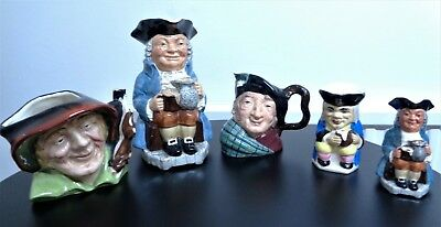 Toby Jugs. A collection of FIVE.