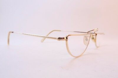 Vintage gold filled half eye reading glasses frames ALGHA made in England