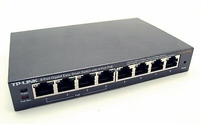 TP-Link TL-SG108PE 8-Port Gigabit Easy Smart Netzwerk Switch + 4 PoE-Ports