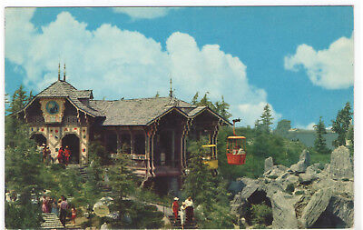 FMRA DISNEYLAND MAGIC KINGDOM SKYRIDE SWISS CHALET POSTCARD sg619