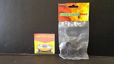 Scalextric Slot Car - W10128. Lightning McQueen (4) Tire Replacement Pack
