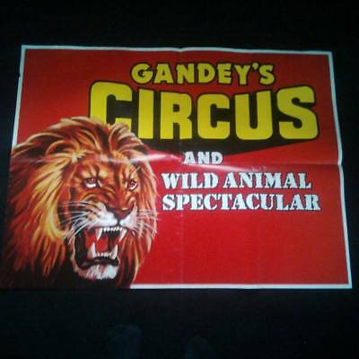 large Gandeys circus poster