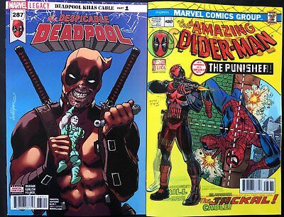 Marvel Legacy Despicable Deadpool #287 Regular & Lenticular Covers