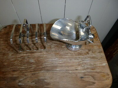 Silver Plated Toast Rack @ A  Silver Plated Coal Scuttle .