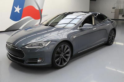 2013 Tesla Model S  2013 TESLA MODEL S TECH 7PASS PANO SUNROOF NAV 21'S 39K #P27922 Texas Direct