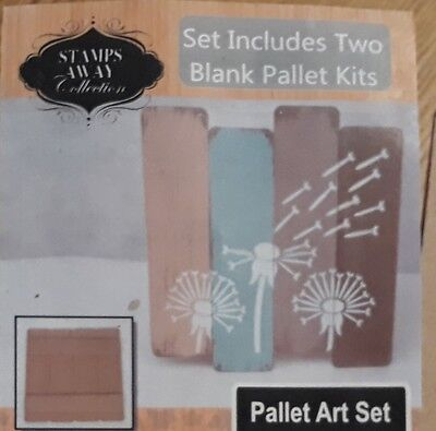 """Stamps Away Mdf """"pallet Art"""" - Contains 2 Kits"""
