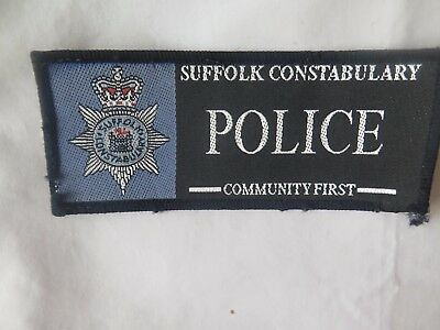 Suffolk Constabulary Cloth Patch.