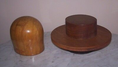 Vintage 4 Piece Wooden Hat Mold ~ Louie Miller School of Millinery Chicago Ill