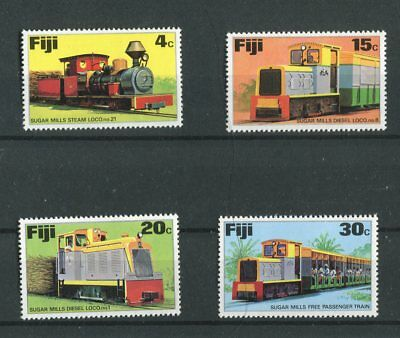 Fiji QEII 1976 Sugar trains locomotives SG526/9 MNH