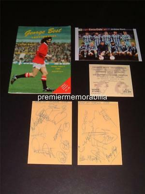 Manchester United Fc George Best 1988 Testimonial Programme + Signed Reprints