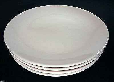 """Iroquois Casual Pink Sherbet Russel Wright 7-1/2"""" Salad Plates Set/s of 4 MCM"""