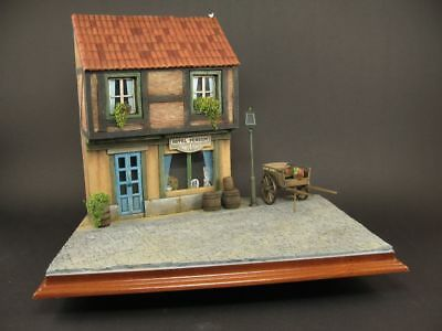 Diorama base - german street, 1:35  scale, built and painted
