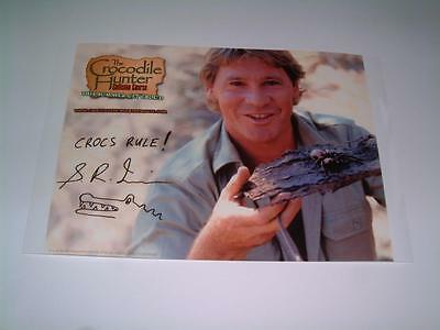Steve Irwin Signed Reprint Photo Crocs Rule Crocodile Hunter