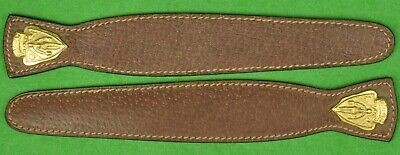'Pair of Gucci Brown c.1981 Leather Book Marks'