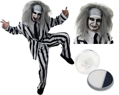 Mens Mad Man Halloween Crazy Ghost Fancy Dress Costume Adult Halloween S-Xxl
