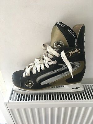 mens size 12 ice skating boots used 2 times