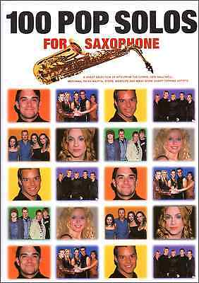 POP SONGS FOR ALTO & TENOR SAX MUSIC BOOK SAXOPHONE Saxaphone Rock Chart Hits