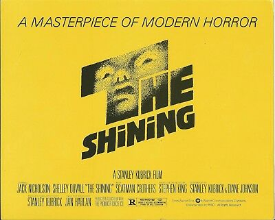 The Shining Title Card  Lobby Card 10X8 Stanley Kubrick Rare