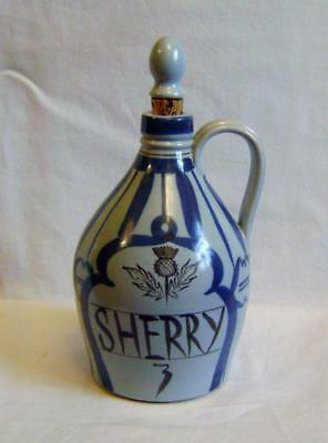 Vintage Buchan Pottery Stoneware Sherry Flask / Decanter Large Size with stopper