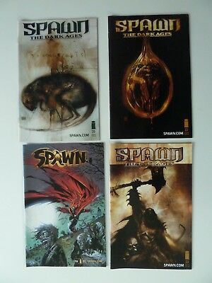 4 x Spawn Comics - The Dark Ages & A Season In Hell - Very Good Condition