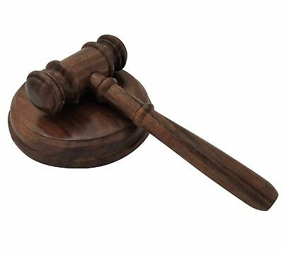 Handmade Wooden Gavel And Sound Board Block Judge Auction Sale Auctioneers Mason