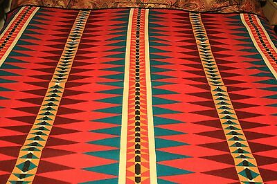Pendleton Indian Dazzler Colorful Heritage Friendship Wool Blanket Beaver State