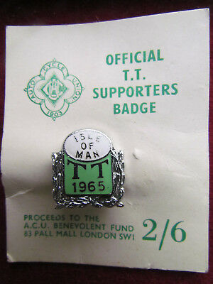 HELMUT FATH - Official T.T. Supporters Badge 1965 ISLE OF MAN Auto Cycle Union