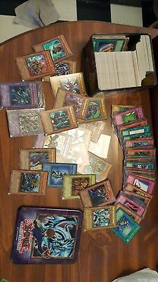 Yugioh Collection trading card game Tin With LOTS of rare and shiny cards