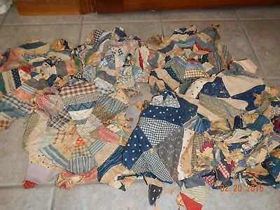 Very Old Quilt Patches 1900's Turn of Century  Calico