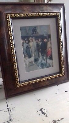 Vintage Solid Wood Picture Painting Frame Highly Ornate Gold with print