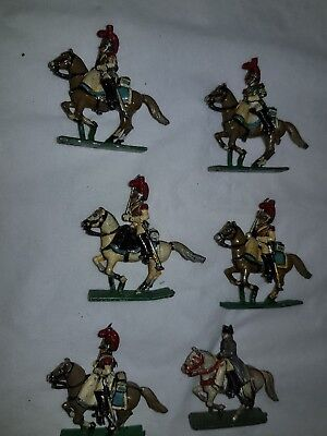 metal soldiers on horse back 25mm