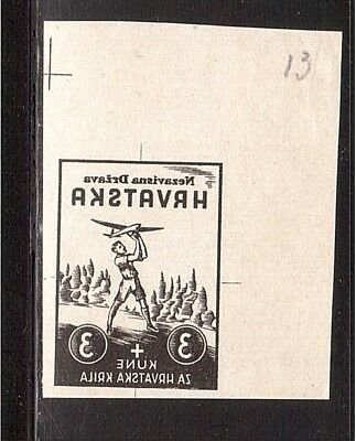 CROATIA WWII Wings negative proof from Ministerial Book 1942  (# 10)