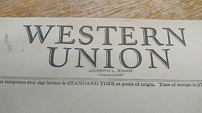 Vintage Western Union Message * Blank Form 1945 - New Old Stock