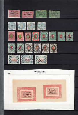 Latvia Russia Venden  Wenden / Cesis 1862-1901 25  Stamps