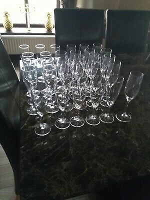 30 champagne flutes.used once qt a wedding