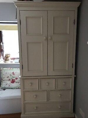 aspace belvoir childrens armoire antique white- collection only