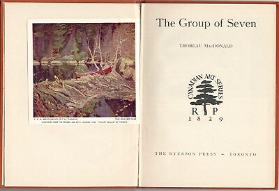 Orig 1944 The Group of Seven, Thoreau MacDonald, 2nd edition, Toronto, painting,
