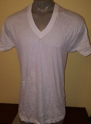 NOS New Vintage Fruit of The Loom V Neck T Shirt White Undershirt XL 46/48  USA