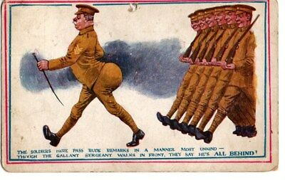 Ww1 Comic Postcard The Soldiers Here Make Rude Remarks