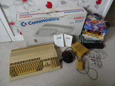Commodore Amiga 500 - Boxed, 1Mb Upgrade and Games - see pics!