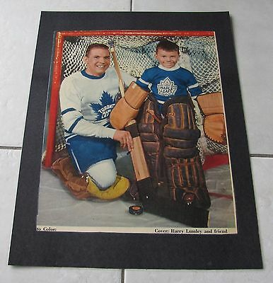 STAR WEEKLY LOT OF FIVE NHL HOCKEY PICTURES 50's/60's LAMINATED ON POSTERS