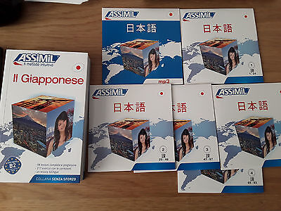 ASSIMIL Giapponese Superpack Curso japones italiano 5 CD audio 1 CD mp3 japonés