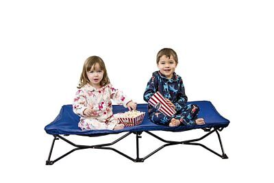 Toddler Kid Child Portable Cot Folding Bed Travel Camping Sleepover Daycare Blue