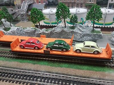 E30 Hornby  Car Transporter x2 one with Three Cars beetles vw